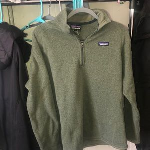 Army green 1/4 zip Patagonia sweater